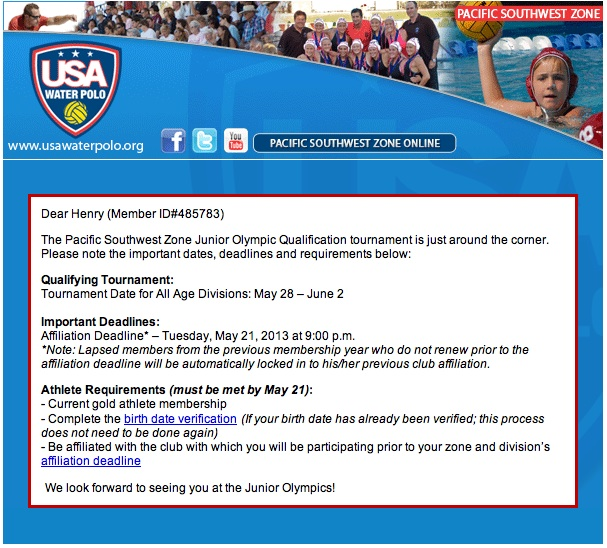 USA Water Polo Reg Page