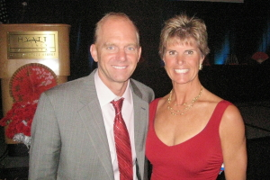 Susan Ingraham and Rowdy Gaines at the 2008 United States Aquatic Sports Banquet