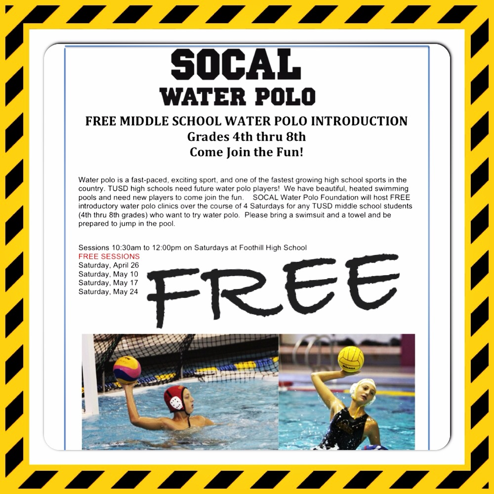 Free Water Polo Clinics