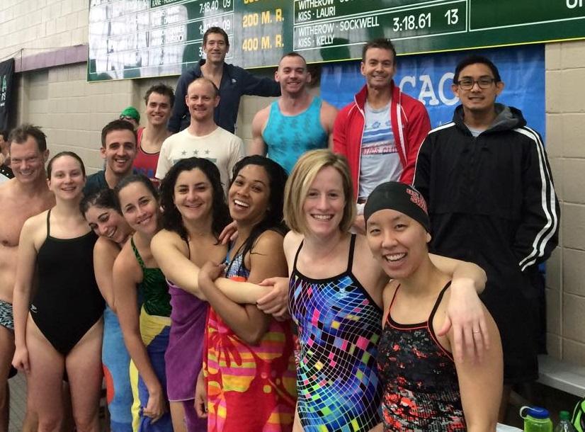 Asian lesbian swim meet