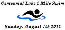 2011 Centennial Lake 1 Mile Swim 8 7 2011